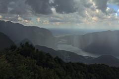 Lugano on a rainy day (mitico61) Tags: mountain lake rain clouds landscape lago nuvole swiss val pioggia montagna ceresio dintelvi sighignola