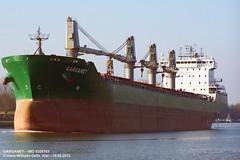 GARGANEY (9358383) (002-10.02.2013) (HWDKI) Tags: ship vessel schiff imo bulkcarrier garganey kielcanal sehestedt massengutfrachter delfs hanswilhelmdelfs 9358383