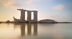 Golden Bay Sands (JamCanSing) Tags: longexposure light reflection marina sunrise golden bay singapore filters haida asm marinabay shoppes photosphere marinabaysands gbtb artsciencemuseum