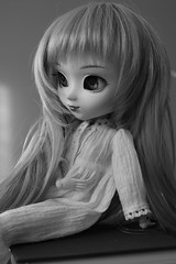 Novelty (Kiki and her dolls) Tags: portrait blackandwhite toy licht doll dal ag pullip kiki custom isul pullipdoll obitsu taeyang angelgate byul kikiandherdolls kikiandchrysanthemum