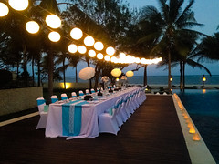Wedding Dinner in Poolside (theroyalsantrian) Tags: wedding weddingdinner romanticdinner poolsidedinner