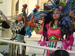 Dancers Honoring the Sun (Robb Wilson) Tags: glendale aztecs brandlibrary aztecdance ritualdance freephotos yankuititl aztecmusic