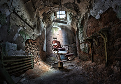 creepy eastern state penitentiary jail cell mad chair (Dan Anderson.) Tags: city urban texture abandoned philadelphia architecture gangster insane chair ruins downtown pennsylvania decay ghost gothic cell landmark historic haunted creepy spooky prison pa crime barber jail torture thief horror terror philly asylum thieves punishment esp alcapone crumbling scarface easternstatepenitentiary cellblock urbex prisoners easternstate criminals inmates murderers madchair