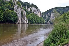 Donaudurchbruch - Danube Gorge (zorro1945) Tags: river germany bayern deutschland bavaria limestone gorge riverbank donau riverdanube donaudurchbruch limestonecliffs limestonegorge danubegorge