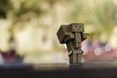 I've just called to say I LOVE YOU! (mahernaamani) Tags: friends love canon toy happy 50mm amazon hug bokeh box couples romance romantic oman muscat  danbo   600d       danboard  canon600d  danbolove