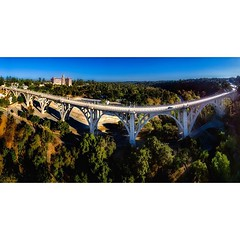 Colorado Street Bridge in Pasadena. That cool building in the distance is a courthouse. This is a multi-level aerial panorama from 17 photos taken with my DJI Phantom 3 Professional. #pasadena #coloradostreetbridge #EnjoyPasadena @enjoypasadena #pasadenal (karolalmeda) Tags: from street bridge panorama 3 building that this is cool colorado with photos taken aerial september professional 17 courthouse pasadena phantom distance 07 2015 coloradostreetbridge multilevel dji instagram ifttt 0438pm enjoypasadena pasadenalife