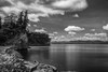 Lake Champlain Shores from Shelburne Farms (emrudaphotography) Tags: longexposure blackandwhite nature nikon vermont lakechamplain shelburnefarms d610 bwnd110 bwcpl nikon28300mm