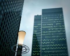 Office buildings (Daniel Philipona) Tags: leica london film fuji summicron negative wharf docklands ttl canary 20 50 m6