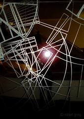 """cubillical cord"" (meonomous) Tags: reflection glass lines cord mirror flash shapes line cube parallel lattice cubism parallelogram cillical"