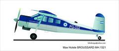 Broussard Max Holste MH 1521 (fabianez) Tags: max argentina golf arte perfil moron pg papa dibujo mh avion broussard faa aerea fuerza aerodromo anac inac 1521 holste