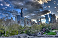 Central Park South (TXA Photography) Tags: nyc newyorkcity sunset sky usa ny newyork rock clouds skyscraper us unitedstates dusk centralpark centralparksouth hdr essexhouse