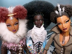 Nne/Mbili/Tatu (FashionDragon) Tags: black barbie africanamerican fashiondoll tatu designerdoll blackdoll jasonwu nne fashionroyalty bobmackie mbili integritytoys byronlars stephenburrows