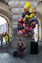 I'm not there (Stovin) Tags: street balloons phone poland gdansk dugitarg