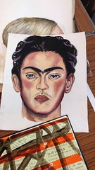 Frida Kahlo in oils
