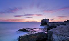 Pulpit Rock (Langstone Joe) Tags: longexposure sunset seascape reflections portland coast coastal dorset limestone weymouth portlandbill pulpitrock jurassiccoast radiatingclouds sonya7r langstonejoe
