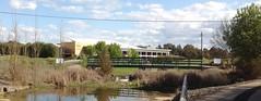 The footbridge on the public walkway from under Gungahlin Drive overpass (spelio) Tags: travel walk australia email act ngunnawal ipad australiancapitalterritory 2015 2913 actcanberrasept2015walkstrollwanderscenic