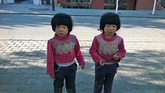 twins  xinjiang of china . and plz guess what is different about the twins? (xiaozhangzhuang) Tags: china twins chinese