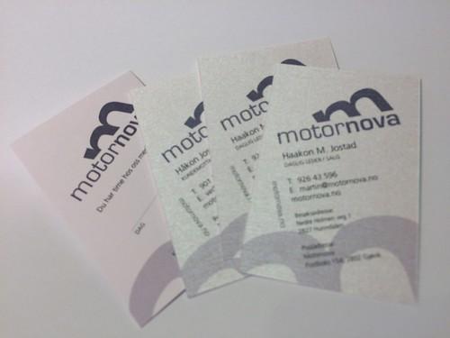 Visittkort for Motornova