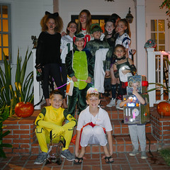 Halloween Crew 2015 (elevatoro) Tags: costumes party halloween alex night scarlet fun quincy flash sophie steps lindsay tommy norman lila grayson sawyer layla izzy solomon manning levin normy 2015 massin holmby leibow