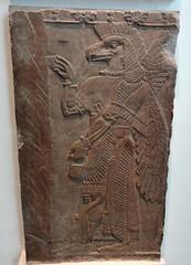 Eagle-headed protective spirit from Assyrian city of Nimrud (ca. 860 B.C.) (heffelumpen9) Tags: sculpture relief britishmuseum nimrud assyrianart neoassyrian ancientneareast wingedgenie bucketandcone