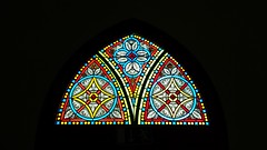 church window (Jac Hardyy) Tags: light color colour church window glass st germany licht thringen colorful fenster kirche thuringia ornament ornaments colored colourful coloured glas bunt marien ornamente colorfully kirchenfenster heiligenstadt katholische heilbad glasfenster colourfully propsteikirche