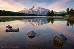 Reflecting on Reflections (Panorama Paul) Tags: sunrise reflections mountrundle banffnationalpark canadianrockies nikonlenses twojacklake nikfilters nikond800 wwwpaulbruinscoza paulbruinsphotography