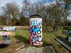 Graffiti (oerendhard1) Tags: urban streetart art graffiti rotterdam gap tags vandalism esc drs capelle casm couwenhoek