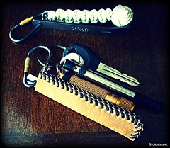 Leather Laced Sheath/Pouch (Stormdrane) Tags: door make leather bar pen diy keychain keyring key loop lock lace knife tie craft knot hobby double needle howto stitching straight pocket edc curved titanium ti weave braid scouting pry fob gaucho everydaycarry lanyard attach laced widgy beprepared monkeyfist turkshead prybar flashllight countycomm stormdrane