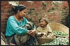Nepalese mother and daughter (simon_pannell) Tags: nepal motheranddaughter