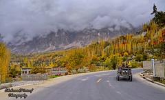 Colors of Hunza (Shehzaad Maroof Khan) Tags: autumn trees pakistan mountains fog nikon highway peace hill karakoram kkh hunza ontheroad cloudscape gilgitbaltistan
