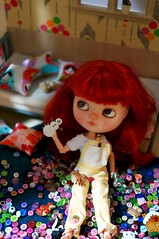 Blythe a Day 16 November 2015 - Buttons, Zippers, or Laces
