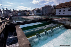 River Reuss (LukeStonesPhotos) Tags: water wall buildings river switzerland luzern lucerne reuss riverreuss