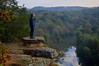 Explorer (imkaifilbey) Tags: morning trees sky orange mountains green fall water leaves rain yellow fog clouds sunrise reflections river hair early rocks boots hiking seat coat foggy lookout hike steam hills marmot merrell harpeth