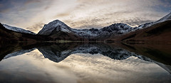 Buttermere reflections pano 2 (alf.branch) Tags: lake reflection water clouds landscape lakes lakedistrict olympus cumbria zuiko buttermere refelections calmwater westcumbria westernlakes cumbrialakedistrict olympusomdem1 zuiko1240mmf28pro