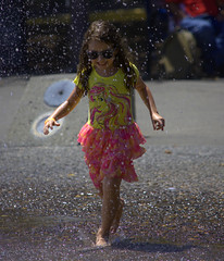 Bright Future (swong95765) Tags: kid girl sunglasses fountain water wet play summer young