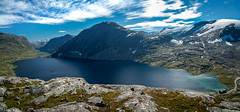 Djupvatnet 1030 m a.s.l, Mre og Romsdal, Norge (North Face) Tags: norge norway norwegen lake mountain rocks water sky clouds summer landscape nature panorama canon eos 5d mark iii 5d3 landschaft see djupvasshytta
