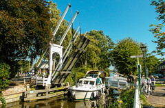 20-Boat Number 2 going through open Draw Bridge in Broek in Waterland  25Sep16 (1 of 1) (md2399photos) Tags: broekinwaterland hollandholiday25sep16 irenehoevetouristshop monnickendam
