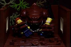 Treehouse of Horror (dr_spock_888) Tags: lego moc simpsons bart rancor star wars tree house halloween