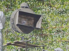 Wolfram Zimmer: Spotlight - Scheinwerfer (ein_quadratmeter) Tags: wolfram zimmer bilder kunst malerei gemlde wolframzimmer konzeptkunst objektkunst meinzimmer freiburg burgbirkenhof kirchzarten ausstellung ausstellungen peinture exhibition exhibitions gartenfigur gartenfiguren versailles schloss hauptallee scheinwerfer beleuchtung garden figure figures castle main avenue headlight lighting