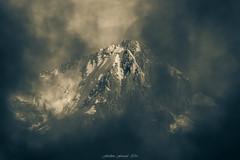 Green Cloud (Frdric Fossard) Tags: monochrome paysage nature montagne brume brouillard glacier sommet cime claircie lumire ombre surraliste alpes hautesavoie chardonnet massifdumontblanc vert luminance crte arte facenord