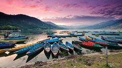 Phewa Lake (Rkitichai) Tags: sunset twilight phewa lake pokhara nepal landscape landscapephotography nature naturephotography travelphotography travel travelnutzmn rkitichaicom outdoor scenery colorful boat water mountain