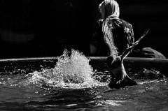 Capture the moment (shpongleri) Tags: street girl women pigeon move flight landing fountain water rijeka