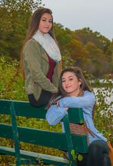 LENA & TAYLOR (jlucierphoto) Tags: outdoor people portrait girls sexy hot autumn fall bench park friends lovelyflickr