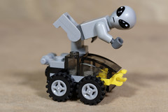 Alien doing the Mojo Boogie (Busted.Knuckles) Tags: home toys lego miniature alien pentaxk3 dxoopticspro11