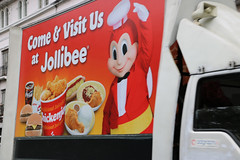 Jollibee (lukedrich_photography) Tags: philipines   pilipinas     republikangpilipinas republicofthephilippines asia southeast southeastasia pacific island canon t6i canont6i history culture manila luzon intramuros oldest district historic core walledcity walled city spanish colonial nationalhistoricmonument jollibee truck sign signage advertising billboard advert food restaurant fastfood filipino chickenjoy cocacola burger fries chicken rice spaghetti character bee costume