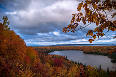 Fall clouds over Lake Superior (BryanNewland) Tags: lakesuperior lake superior greatlakes groscap baymillsindiancommunity spectaclelake ontario michigan colors fall autumn fallcolors leaves trees upperpeninsula yooper puremichigan north