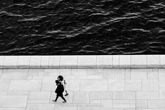 View from the top of the Oslo Opera House (Ioannis Ioannou Photography) Tags: glass street scandinavia sea norway seascape streetphotography oslo northsea monochrome travel lines house opera architecture oslooperahouse ioannisioannouphotography black photography white bw blackwhite blackandwhite operahusetoslo