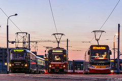 Tram evolution (Rivo 23) Tags: tatra t3 tram t6a5 prague praha ckd skoda 15t czech trams