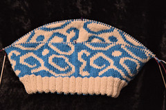 IMG_0914_1 (tinksdarkerside) Tags: project ravelry knitting doubleknitting cheesehead hat