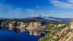Crater Lake (EeBeeGeeBee) Tags: mazama caldera smoke wildfire forest thielsen craterlake autumn